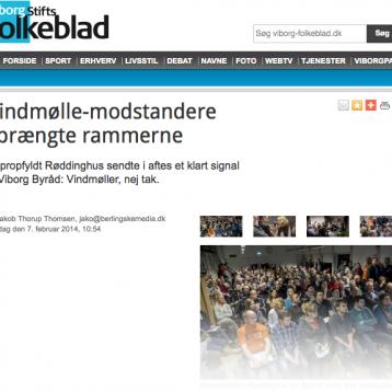 Viborg: Vindmølle-modstandere sprængte rammerne