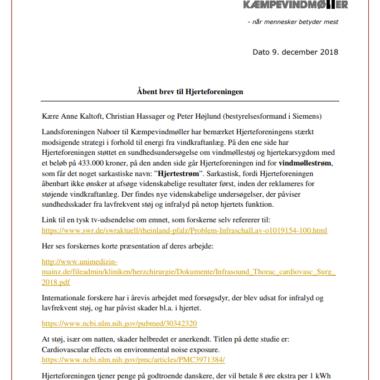 Åbent brev til Hjerteforeningen fra LNtK