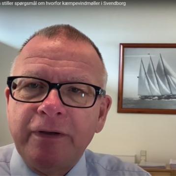 Per Nykjaer Jensen om MEGA Vindmøller ved Broholm